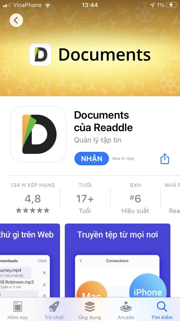 Ứng dụng Documents by Readdle Tải video từ youtube về điện thoại iPhone, máy tính bảng iPad